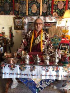 Lama Jigme Rinpoche puja table