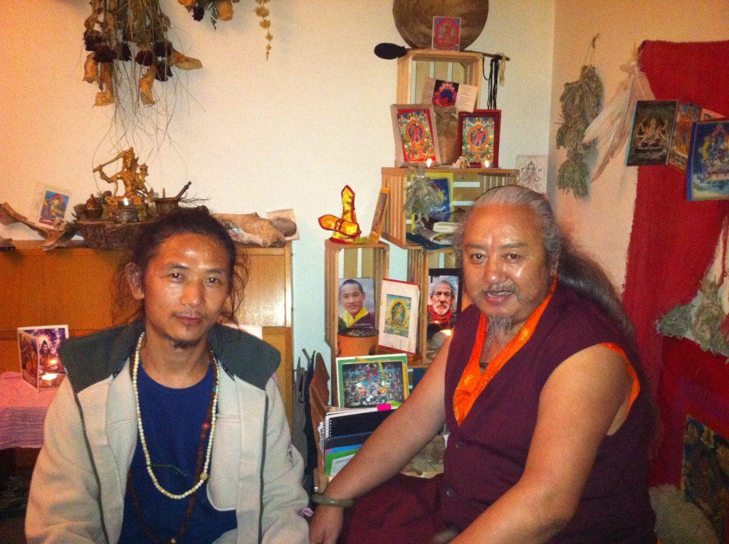 Tenzin Wangden and Lama Jigme Rinpoche