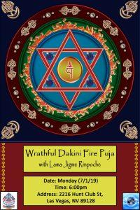 wrathful dakini fire puja