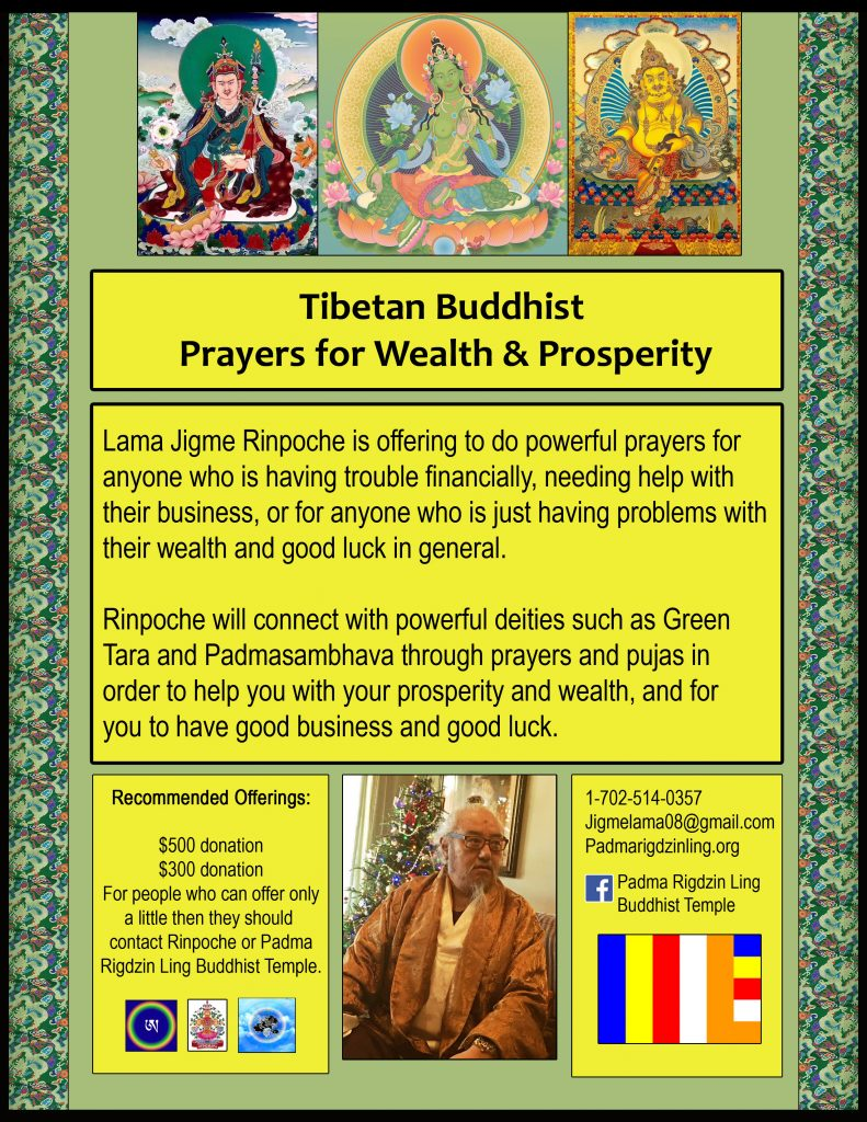 Tibetan Buddhist Prayers for Wealth & Prosperity